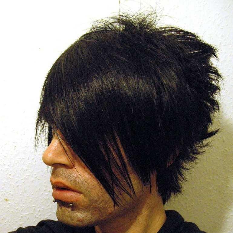 Frisur Emo-Boy